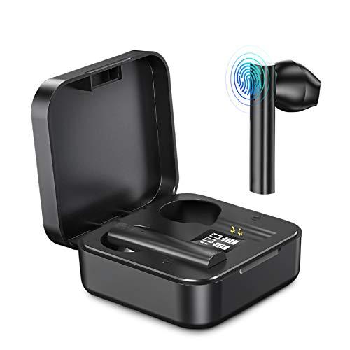 Auriculares Bluetooth 5.0 Auriculares Inalambricos Cascos Bluetooth Headphone Deportivos Estéreo con Mic y Cancelación de Ruido Caja de Carga - Auriculares Compatible con iPhone/Samsung