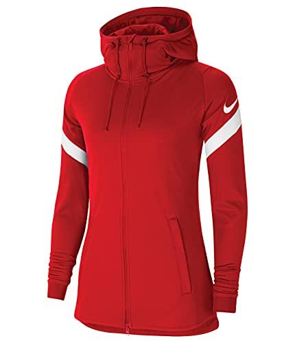 NIKE Strike 21 - Chaqueta para mujer, Mujer, Abrigo de vestir, CW6098, Rojo universitario/blanco/blanco, XS