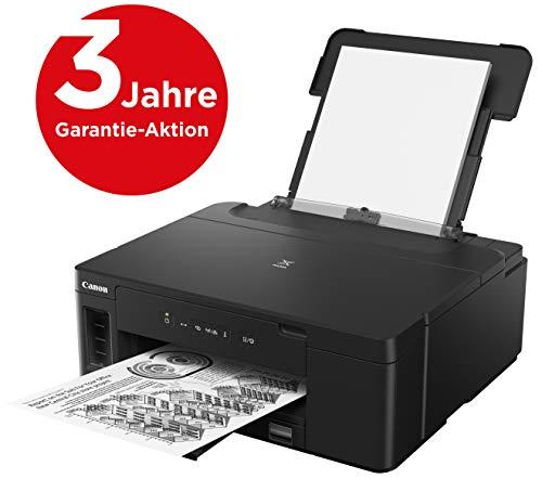 Canon PIXMA GM2050 MegaTank Drucker nachfüllbar Tintenstrahl S/W DIN A4 (schwarzweiß Drucker, WLAN, USB, LAN, Duplex, 2 Zuführungen, gr. Tank, niedrige Kosten/Seite) schwarz