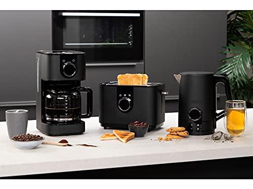 InLine - Juego de café y tostadora (acero inoxidable), color negro