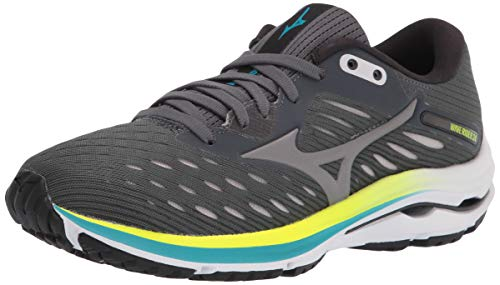 Mizuno Women's Wave Rider 24 Running Shoe, Castlerock-Phantom, 6 D US