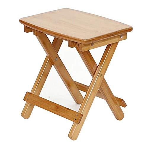 QIDI Chaise Pliante Tabouret Pliant Table Pliante Bambou Simple Moderne Pliable Réglable en Hauteur Bureau Apprendre Loisirs Protection de l'environnement (Taille : Stool-39cm)