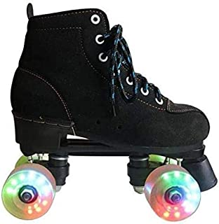 Women's Roller Skates Classic High-Top Roller Skates Double Roller Skates for Boys and Girls, Double Roller Skates for Teenagers and Adults, Indoor and Outdoor Speed Skating Shoes