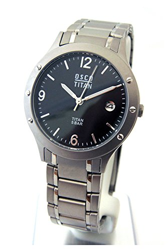 OSCO Germany Herren Uhr Analog mit Titan Armband 04870012