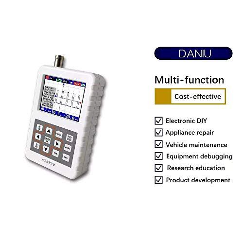 ICQUANZX Digital Oscilloscope, DSO FNIRSI PRO Digital Oscilloscope Handheld Oscilloscope Mini Palm Size Oscilloscope with 5M Bandwidth 20MS/s Sampling Rate