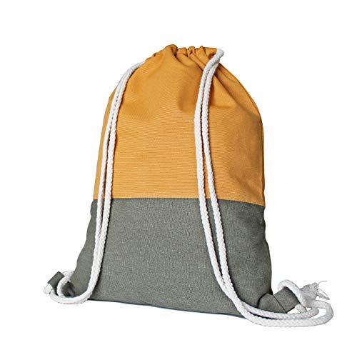 anorm Turnbeutel aus Baumwolle, für Sport, Reisen und Freizeit, für Damen & Herren, sehr robust, mit praktischer Innentasche