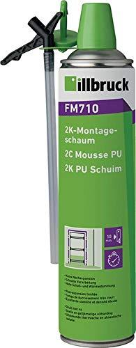 ILLBRUCK 2K-Montageschaum FM710 400 ml B2 grün mit Einweghandschuhen, 12 Stück