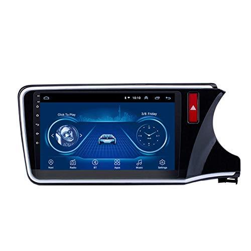 JALAL Navegador GPS para Coche Doble DIN para Honda City 2015-2018 Android 1080P HD Pantalla táctil, GPS en el Tablero Navi FM Radio Am Bluetooth Manos Libres SWC DSP Mirror Link