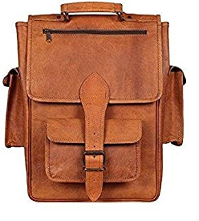 TUZECH Modern Sleek Finish Pure Leather Bag Hunter Satchel Professional Regular Use Bag - Fits Laptop Upto 15.6 Inches