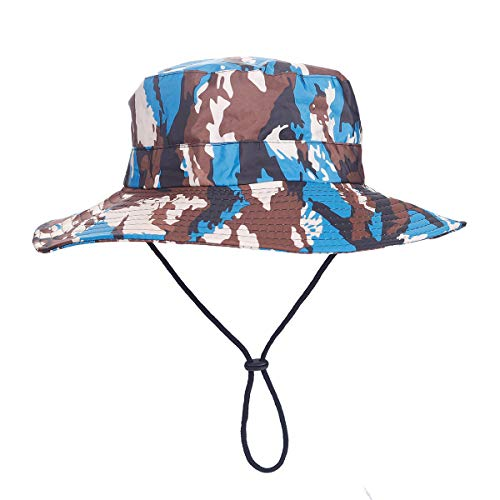 MOMOCOY Outdoor Sun Hat, Waterproof Fishing Hat Sun Protection Summer Boonie for Man and Women Foldable Bucket Hat for Hiking