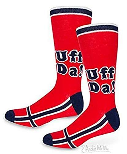 Accoutrements Uff Da! Knee High Socks,Red,One Size