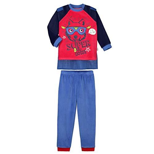 Petit Béguin - Pyjama garçon manches longues Beau gosse + cape amovible - Taille - 4/5 ans