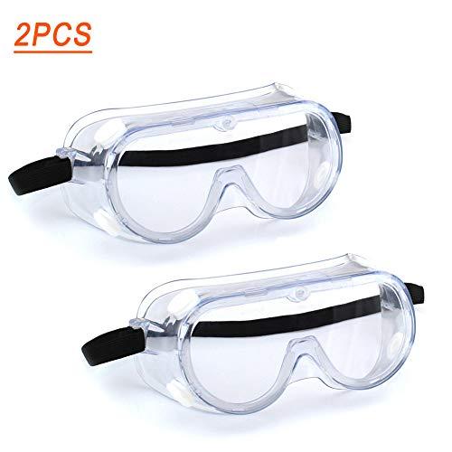 Kbox Schutzbrille, Anti-Fog Schutzbrillen, UV-Schutz Schutzbrille für Erwachsene, Augen Impacted Sealed Arbeitsschutz Airsoft Schutzbrillen über Brille für DIY, Medizin