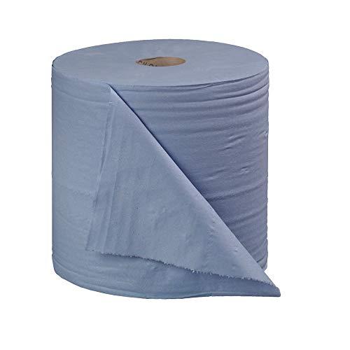 Connect B2B340 - Pack de 2 rollos de papel para limpiar, 400 m, color azul