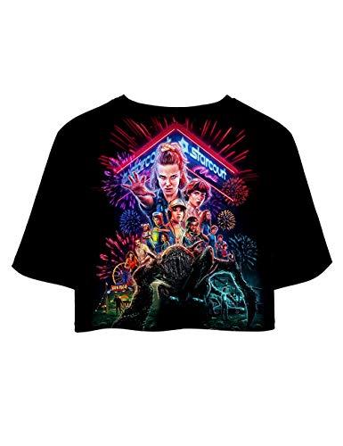Stampa 3D Stranger Things Maglietta per Donna, Friends Dont Lie T-Shirt Maniche Corte Estate Tops Tee Camicia Camicetta Blusa (G,S)