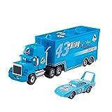 QEEN Pixar Cars 3 Juguetes Set de vagones Colección Rayo Mcqueen Mack tío camión de Rescate 01:55 Diecast Modelo de Coche de Juguete de Regalo de los niños (Color : 1 Cars and 1 Truck P)