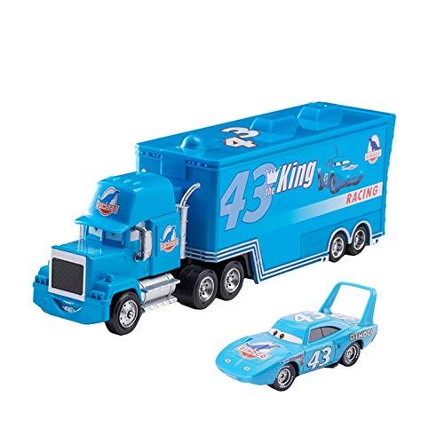 BVCXZ Pixar Cars 3 Juguetes Set de vagones Colección Rayo Mcqueen Mack tío camión de Rescate 01:55 Diecast Modelo de Coche de Juguete de Regalo de los niños (Color : 1 Cars and 1 Truck P)