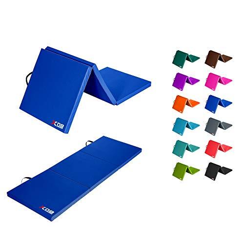 Xn8 Pieghevole Yoga Tappetino - Tri-Fold Tappetino con Trasportare Le Cinghieper Palestra-Pilates - Aerobico-Fitness - Allenamento - Esercizi a Casa