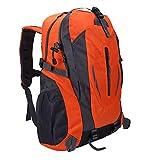 Sac à dos antivol pour ordinateur portable Sac à dos de haute qualité Sac à bandoulière Sac à dos d'école de voyage d'affaires pour l'escalade Alpinisme(Orange)