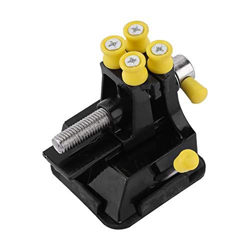 LANTRO JS - Mini tornillo de banco de banco, 78 x 63 x 63 mm Tornillo de banco para reparar herramienta de soporte de removedor Hobby Table Taladro Prensa Artesanía Reloj Abrazadera de joyería