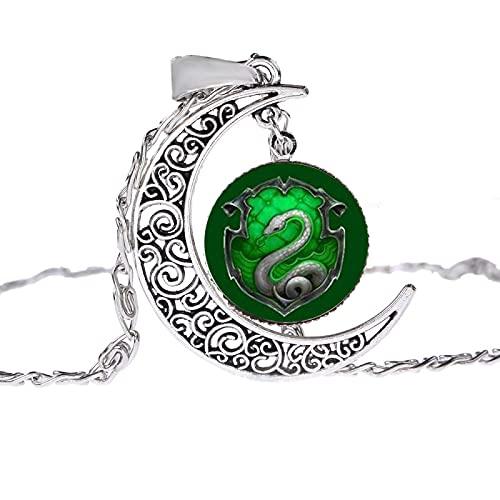 Heißer Verkauf Harry Potter Retro Zeit Edelstein Halskette Europäische Und Amerikanische Glas Anhänger Mondschein Edelstein Pullover Kette Mode
