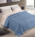 GoldenHome Quilt Überwurf antiallergische Tagesdecke in 4 Farben 3 Maße 160/220/260x240cm (Blau, 260 x 240 cm)