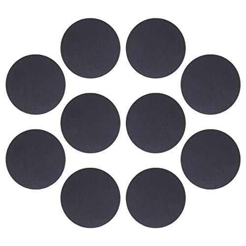 10 hojas de hierro de disco de placa de metal de 4 cm para imán Soporte de teléfono móvil y soporte magnético para teléfono de coche (negro) para regalo