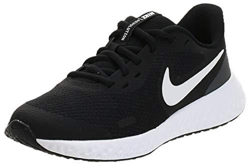 Nike Unisex-Kid's Revolution 5 Grade School Running Shoe, Black/White-Anthracite, 7Y Regular US Big Kid