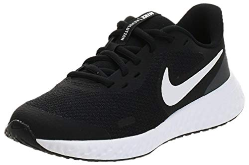 Nike Revolution 5 (GS), Scarpe da Corsa, Black/White-Anthracite, 37.5 EU