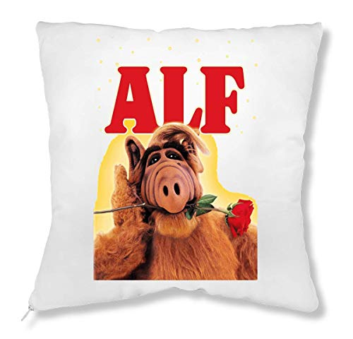ShutUp Alf with Red Rose In The Mouth Kissen