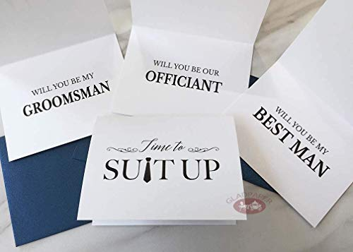 Top Seller Groomsmen Proposal Card Set, funny groomsmen card, Will you be my groomsman, best man, our ring bearer, Officiant Groomsmen gift