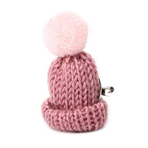 SimpleLife Tiny Pom Pom Ball Lana Sombrero Nip Broches Prendedores para Mujeres Joyería Super Kawaii en Japón