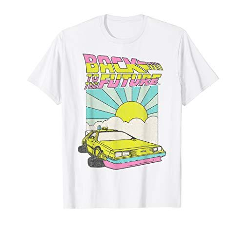 Back To The Future DeLorean Sunrise T-Shirt for Men or Women, 6 Colors