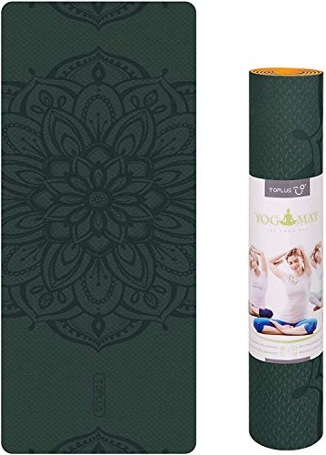 Photo of TOPLUS Yoga Mat, Classic Pro Fitness Mat TPE Eco Friendly Non Slip Exercise Mat with Carrying Strap-Workout Mat for Yoga, Pilates and Gymnastics 183 x 61 x 0.6CM (Dark green)