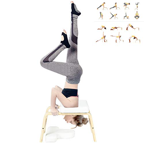 For Sale! C-Chain Balanced Yoga Headstand Bench - Ideal for Workout, Fitness and Gym Perfect for Bot...