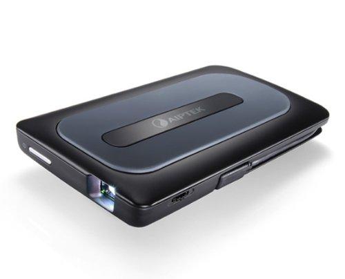Aiptek MobileCinema A50P DLP Pico Projektor für Android/Apple iPhone (HDMI, MHL, Kontrast 1000:1, 640 x 480 Pixel, 50 Lumen) schwarz