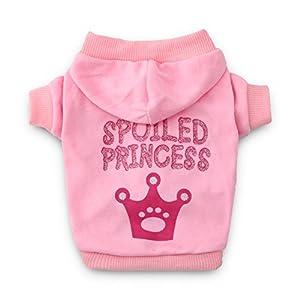 DroolingDog Dog Shirts Princess Dog Sweatshirt Puppy Hoodie Pet T Shirt for Small Dogs Girl, Small