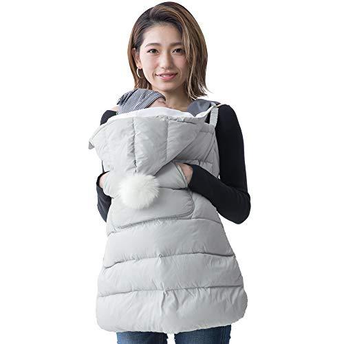 (ケラッタ)抱っこ紐防寒ケープあったか軽量ダウン撥水加工ベビーカーにも抱っこひもカバー(パールホワイト)