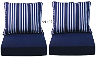 Comfort Classics Inc. Set of 2 Deep Seating Outdoor Dining Chair Cushion: Pillow: 24
