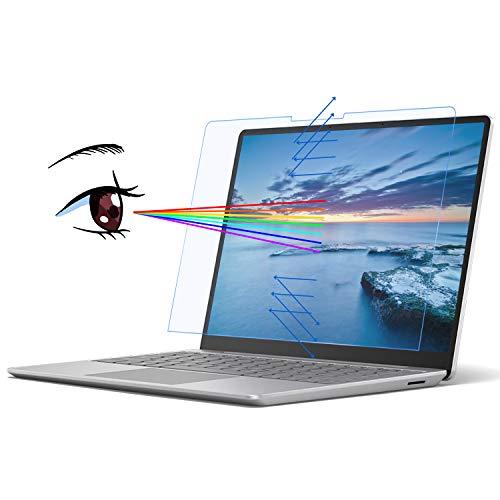 MasiBloom - Pellicola protettiva per schermo trasparente anti luce blu per Microsoft Surface Laptop Go 12,5  (uscita ottobre 2020), durezza 4H, antigraffio, protegge gli occhi