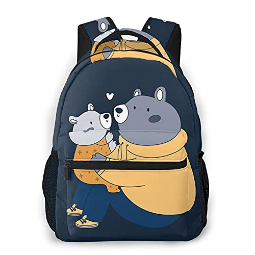BYTKMFD - Zaini da orso per scuola, libri, università, borsa da trasporto, leggera, da viaggio, sport, Bear1, Taglia unica