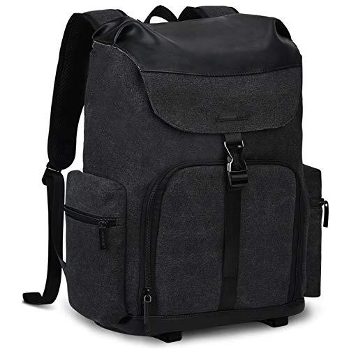 T-ara Neueste Kamera-Rucksack Canvas-Regenmantel-Kameratasche außerhalb verschleißfester großer Fotografie-Tasche Unverzichtbar für Reisen im Freien (Color : Black, Size : A)