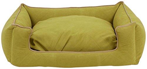 Carolina Pet Mikrofaser Kuddle Lounge Low Profile Bett für Haustiere, mittel, Weide/Khaki