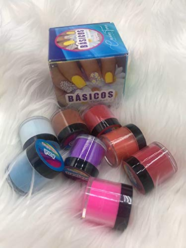 WAPIZIMA - basicos #2 Acrylic Nail Powder Collection - set of 8 - Fantasy nails like