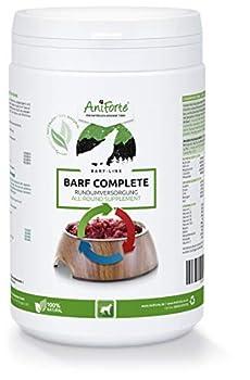 AniForte Barf Complete Powder pour Chiens 500g - Soin Complet 100% Naturel - Naturel, adapté à l'espèce et équilibré, additif de Haute qualité pour Le vomissement, Riche en minéraux