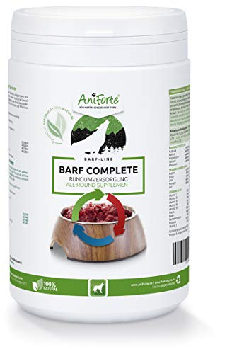 AniForte BARF Complete 500 g for Dogs, and Natural Barf Supplement with Minerals and Vitamins, Gluten Free, Raw Food Diet