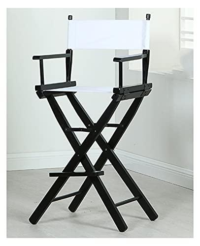 tayer Regiestuhl Klappbar, Campingstuhl, Malerstuhl, Klappstuhl Hochstuhl aus Holz, mit Fußstütze, für Heimat- oder kommerzielle Zwecke Make-up-Künstler-Stuhl-Film-Richtungen