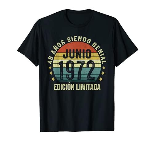 Nacido En Junio 1972 Hombre Mujer Clásico 49 Años Cumpleaños Camiseta