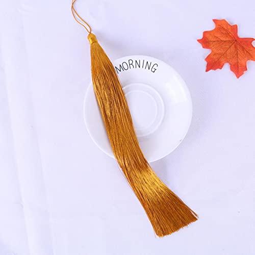 5 unids / Pack Borla de Color Largo Embalaje Ropa Sombrero Accesorios Muebles Colgante Estilo Antiguo Accesorios para el Cabello DIY borla-17