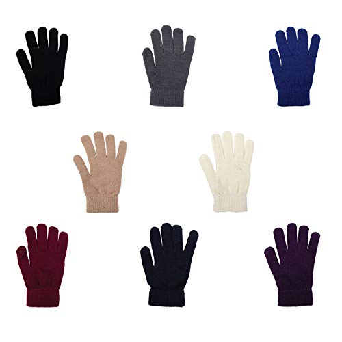 48-Pair Gloves Wholesale Unisex Winter Accessories in 8 Assorted Colors - Bulk Gloves